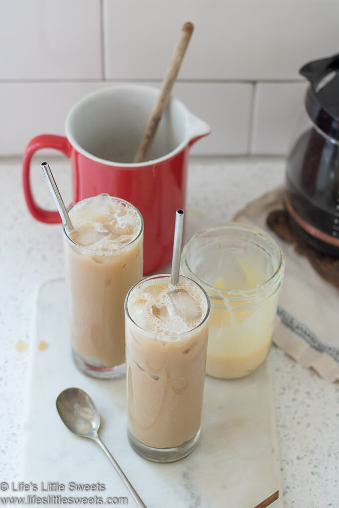 Sweetened Condensed Milk Iced Coffee lifeslittlesweets.com
