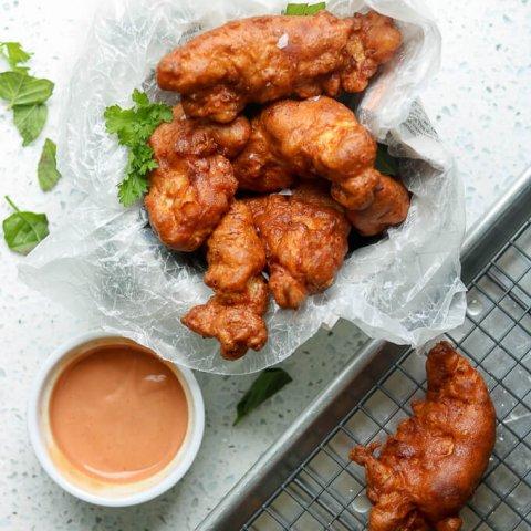 Crispy Fried Buttermilk Chicken Tenders lifeslittlesweets.com