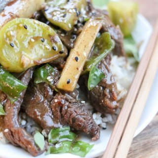 Green Tomato and Beef Stir Fry for SoFabFood lifeslittlesweets.com
