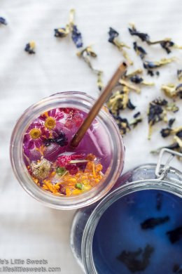Butterfly Pea Flower Gin Mule lifeslittlesweets.com