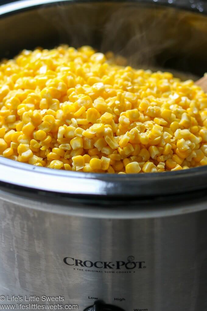 Slow Cooker Crock-Pot Butter Corn lifeslittlesweets.com