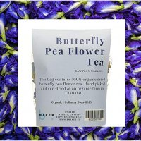 Organic Dried Butterfly Pea Flower Tea (Clitoria Ternatea) | Preservative-free Edible Thai Herb | Whole Flowers for Color Changing Blue Tea, Baking, Cooking and Natural Sexual Enhancement , 50 Gram