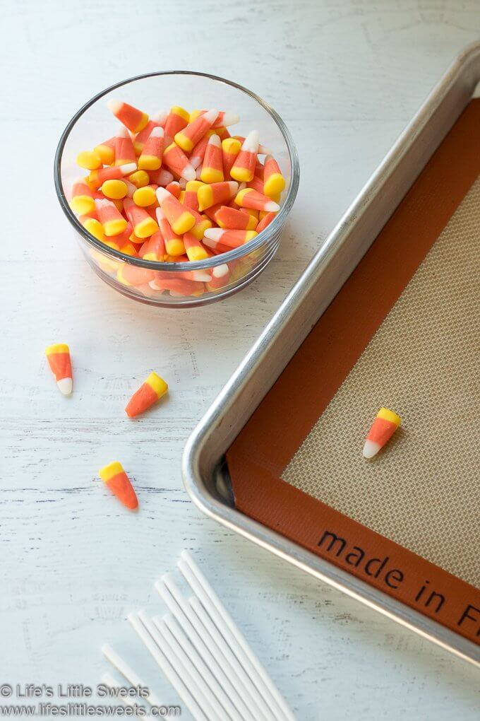 Candy Corn Lollipops lifeslittlesweets.com