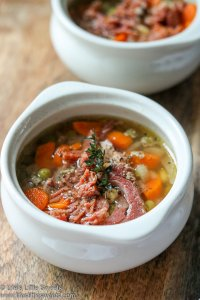 Instant Pot Ham Vegetable Soup lifeslittlesweets.com