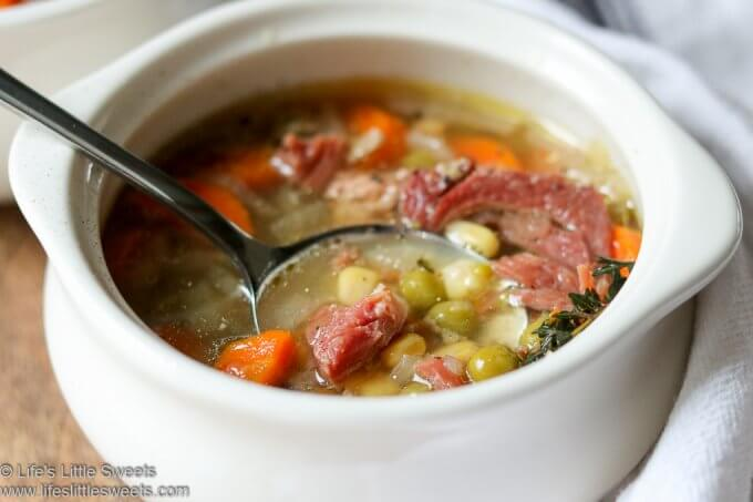 Instant Pot Ham Vegetable Soup lifeslittlesweets.com