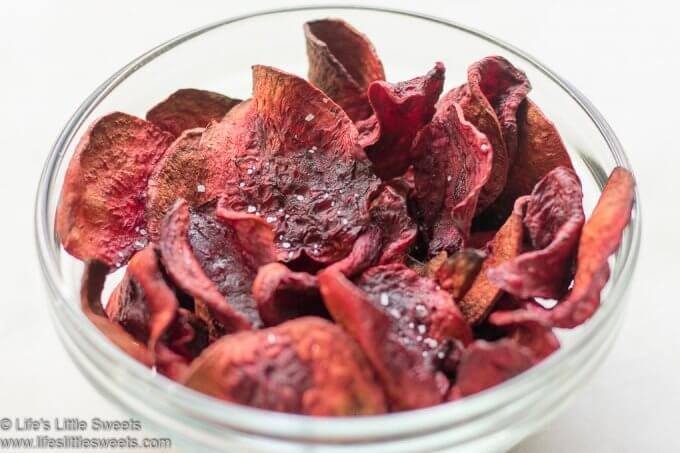 Air Fryer Beet Chips - Healthy, Snack, Nutritious, Savory #beets #airfryer #beetchips #snack #healthy #easy #nutritious www.lifeslittlesweets.com