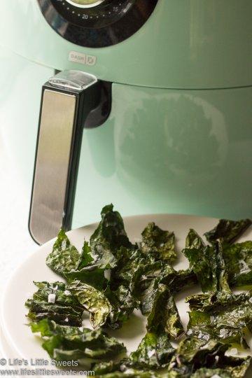 Air Fryer Kale Chips www.lifeslittlesweets.com