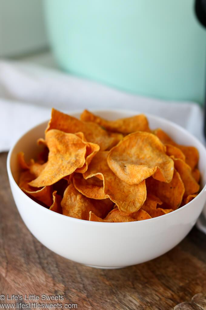 Air Fryer Sweet Potato Chips www.lifeslittlesweets.com