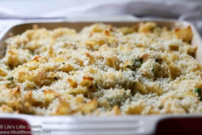 Tuna Noodle Casserole close up www.lifeslittlesweets.com