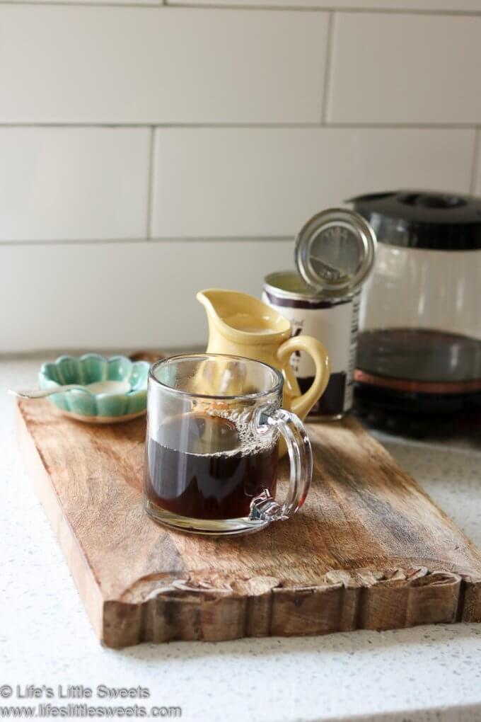 black coffee in a clear mug
