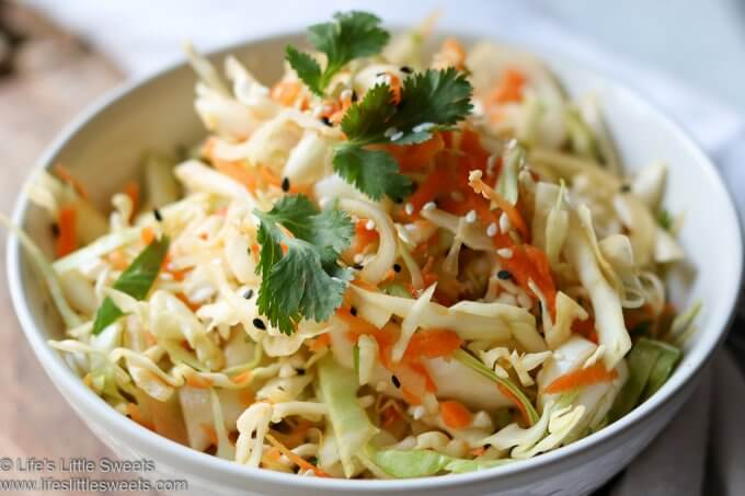 Asian Inspired Cole Slaw