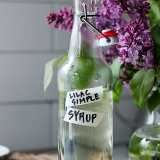 Lilac Flower Simple Syrup