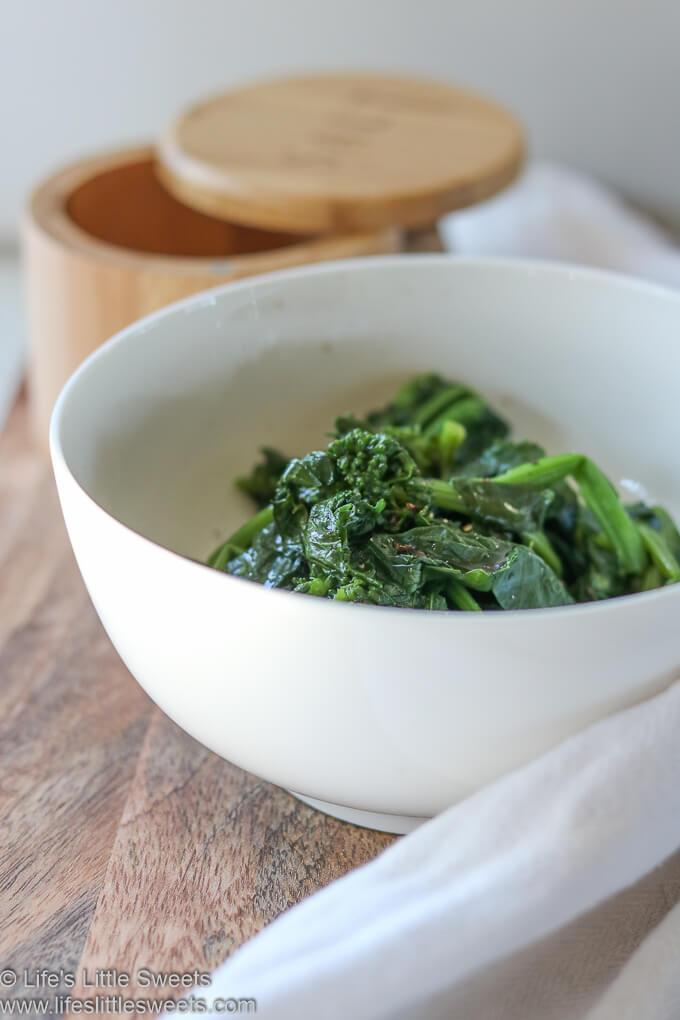 Steamed Broccoli Rabe Rapini