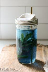 Blue Butterfly Pea Flower Mint Water