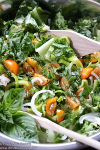 Cherry Tomato Sweet Pepper Herbs Salad
