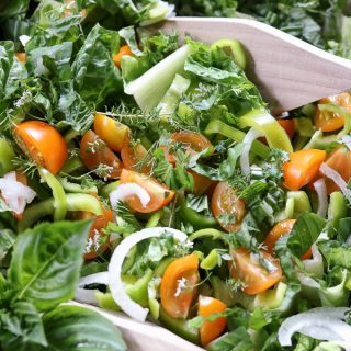 Cherry Tomato Sweet Pepper Herbs Salad