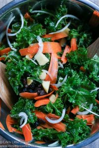 Apple Carrot Raisin Massaged Kale Salad