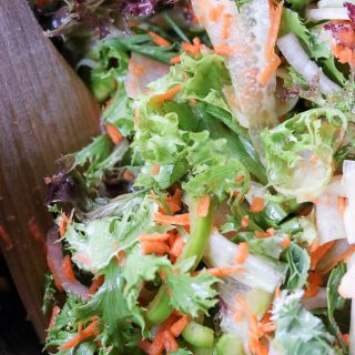 Carrot Cucumber Ribbon Mixed Greens Salad