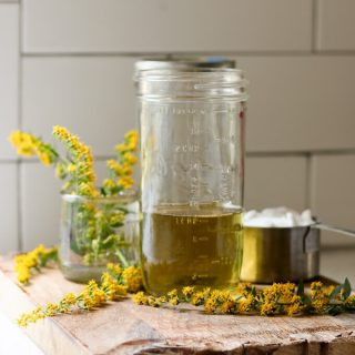 Goldenrod Simple Syrup