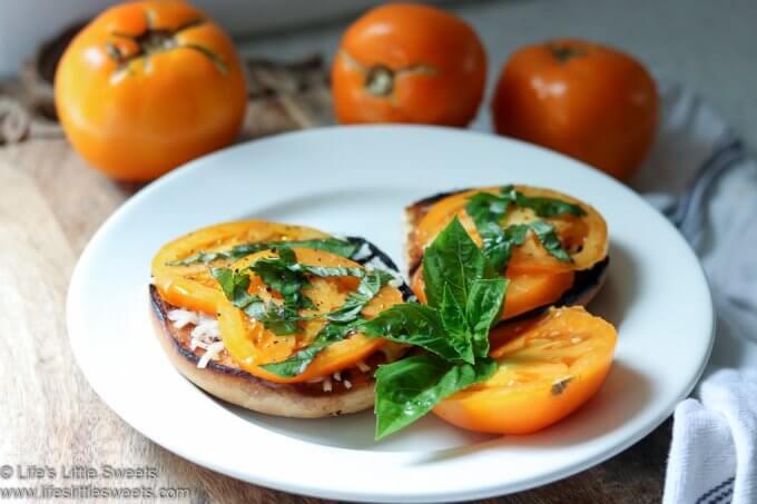 Tomato Basil Mozzarella Bagel Toast