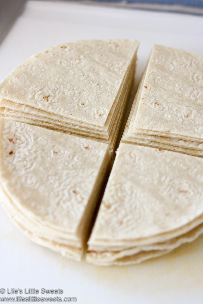 flour tortillas cut into quarters