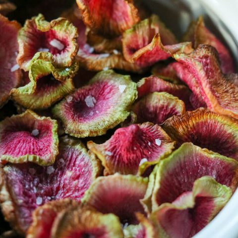 Air Fryer Watermelon Radish Chips