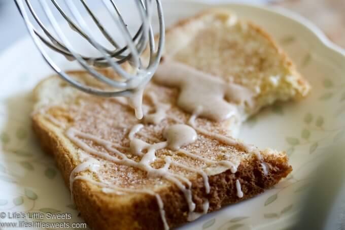 Chai Spice Icing Glaze on toast