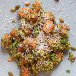 Pumpkin Gnocchi with Pepita Pesto