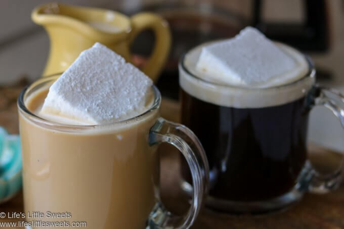 Marshmallow Coffee, marshmallows floating in coffee
