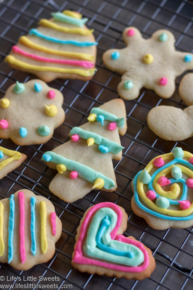 Christmas Holiday decorated colorful Cutout Sugar Cookies