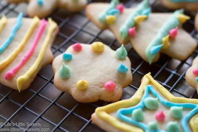 Cutout Sugar Cookies close up view