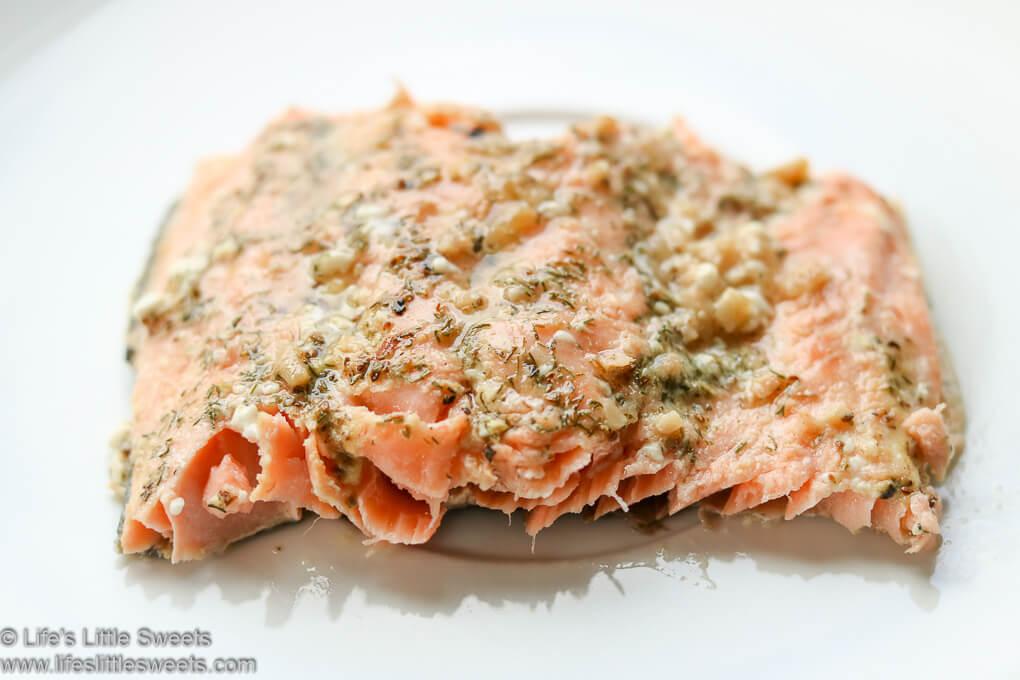 Dill Dijon Garlic Baked Salmon