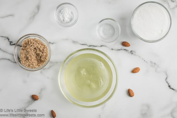 Ingredients for Almond Meringue kisses