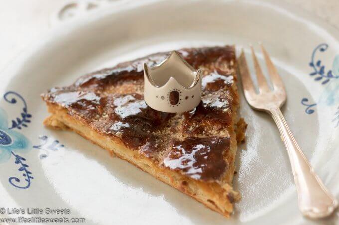 a slice of Galette Des Rois (King Cake)