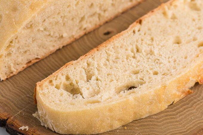 No-Knead Bread (Dutch Oven) slice