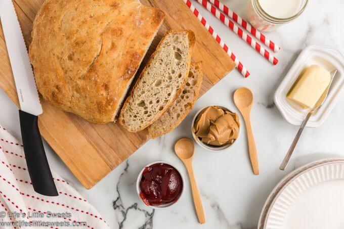 No-Knead Flaxseed Bread - Ready to cut!
