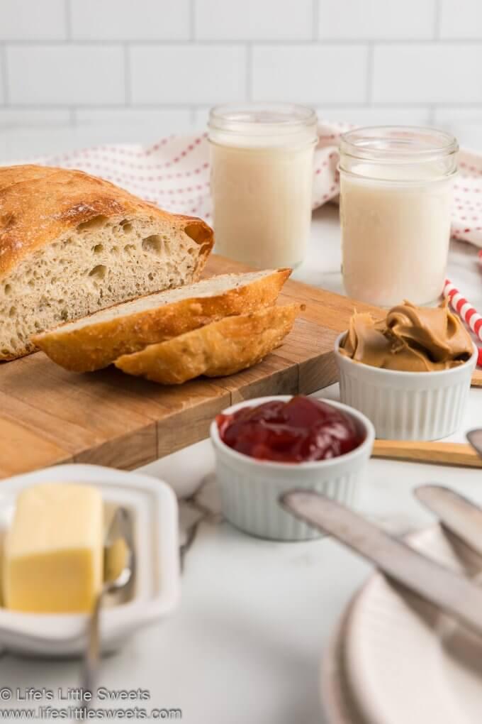 No-Knead Flaxseed Bread sliced