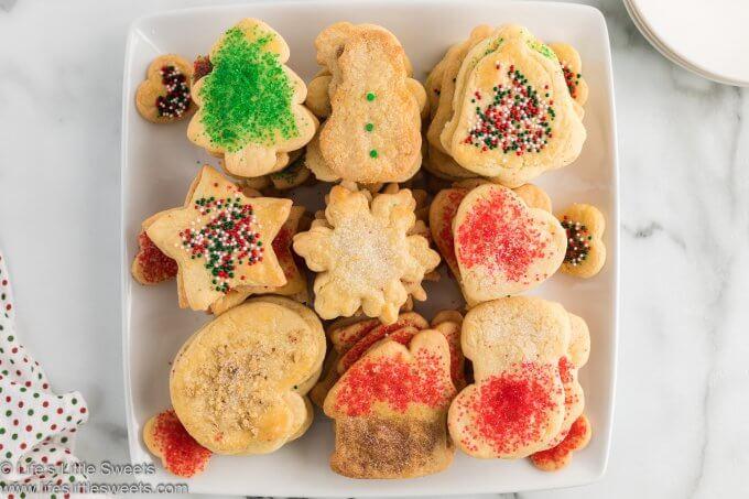 sand tart cookies on a plate