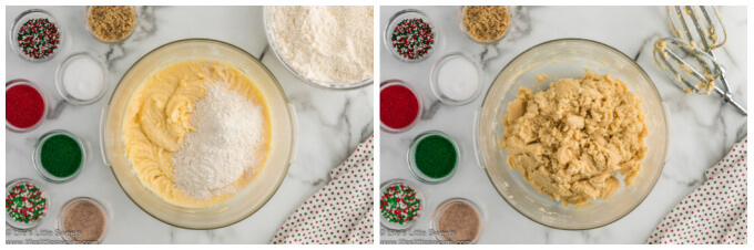 collage of how to make sand tart cookies